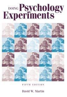 9780534248710: Doing Psychology Experiments