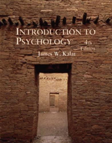 9780534250140: Introduction to Psychology