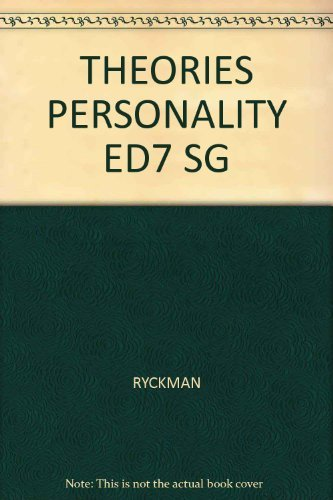 9780534251116: Theories of Personality (Paperback)