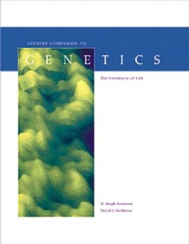 9780534252779: Student Companion for Fairbanks/Andersen's Genetics: The Continuity of Life (Environmental Science)