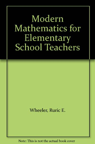 9780534253264: Modern Mathematics for Elementary School Teachers