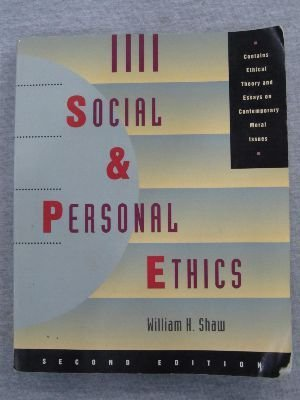9780534254582: Social and Personal Ethics (Philosophy)