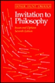9780534255497: Invitation to Philosophy: Issues and Options