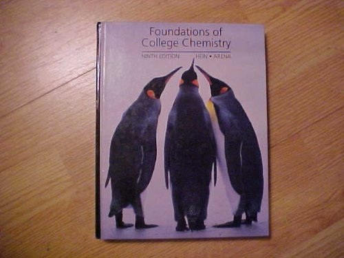 9780534259204: Foundations of College Chemistry