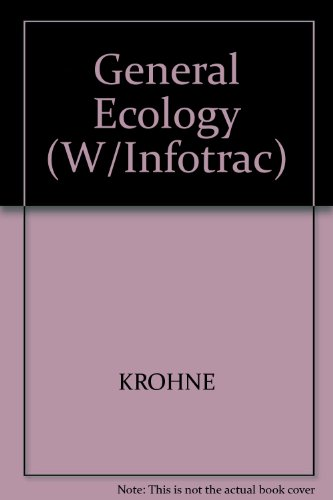General Ecology: With Infotrac: Krohne, David T.