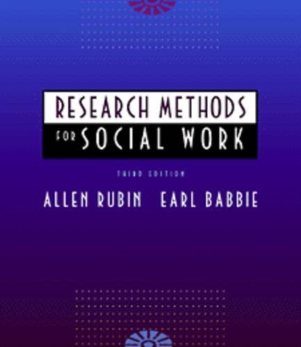 9780534263881: Research Methods for Social Work