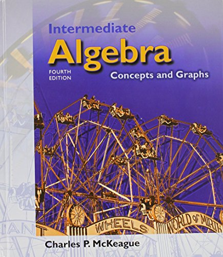 9780534273521: Intermediate Algebra: Concepts and Graphs [With Infotrac]