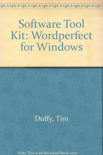 9780534302429: Software Tool Kit: Wordperfect for Windows