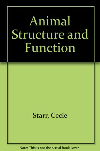 9780534304782: Animal Structure and Function