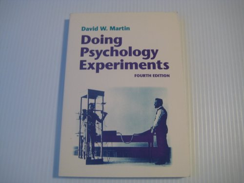 9780534338404: Doing Psychology Experiments