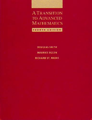 9780534340285: A Transition to Advanced Mathematics
