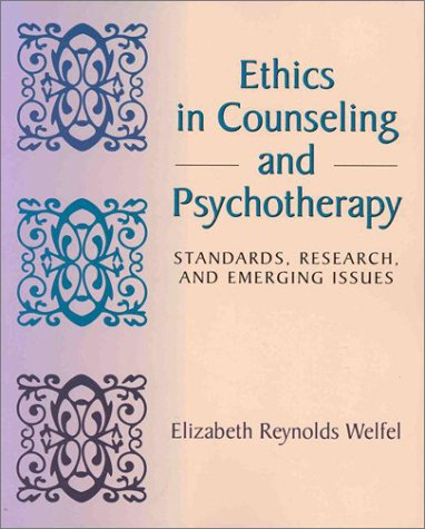 9780534343026: Ethics in Counseling and Psychotherapy: Standards, Research, and Emerging Issues