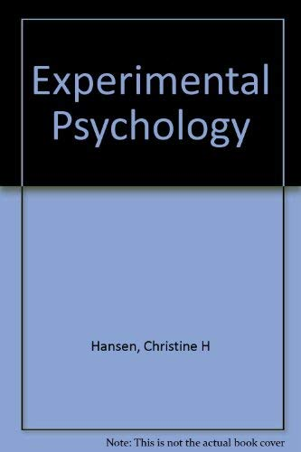 Study Guide & Workbook for Myers/Hansen's Experimental Psychology :: Christine H. ...