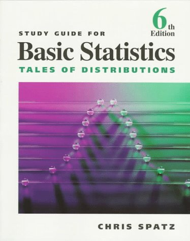 9780534343651: Study Guide for Spatz's Basic Statistics: Tales of Distributions
