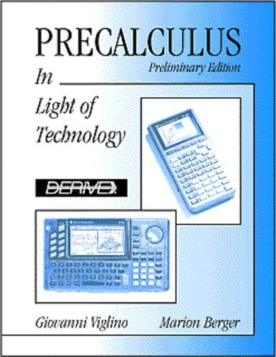 9780534350055: Precalculus: In Light of Technology