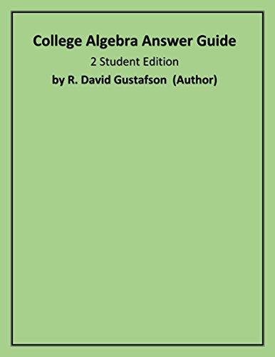 9780534351618: College Algebra Answer Guide