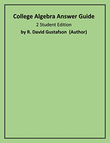 9780534351618: College Algebra Answer Guide