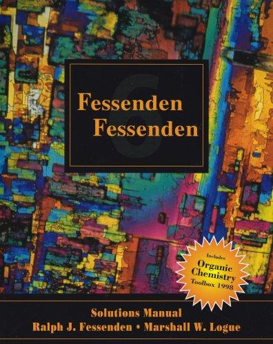 9780534352004  Solutions Manual For Fessenden  Fessenden U0026 39 S