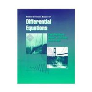 9780534352530: Student Solutions Manual for Differential Equations