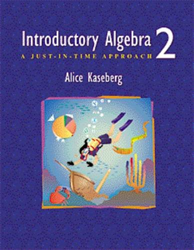 9780534357474: Introductory Algebra: A Just-In-Time Approach