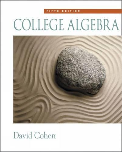 9780534357719: College Algebra (with CD-ROM, Make the Grade, and InfoTrac) (Available Titles CengageNOW)