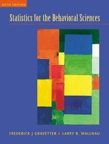 9780534359263: Statistics for the Behavioral Sciences