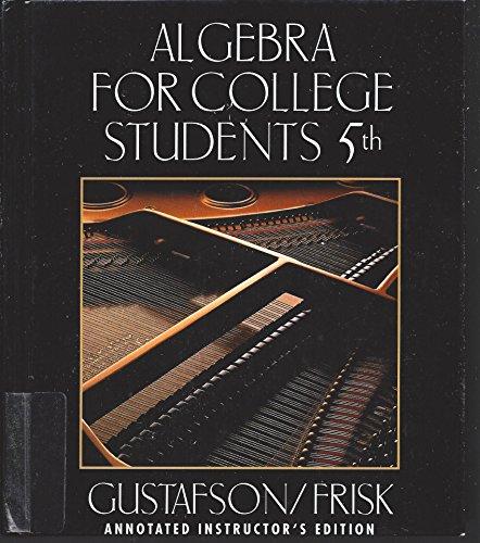 9780534359447: Algebra for College Students