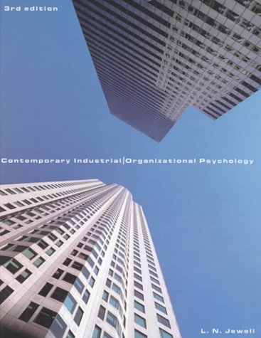 9780534363482: Contemporary Industrial/Organizational Psychology [With Infotrac]