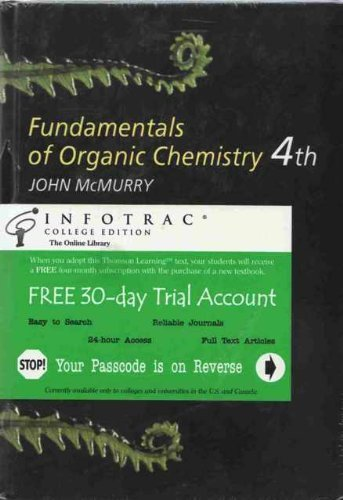 9780534363543: Fundamentals of Organic Chemistry With Infotrac