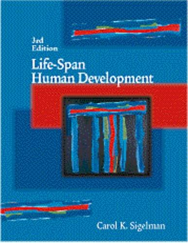 9780534363628: Life-Span Human Development (Non-InfoTrac Version)