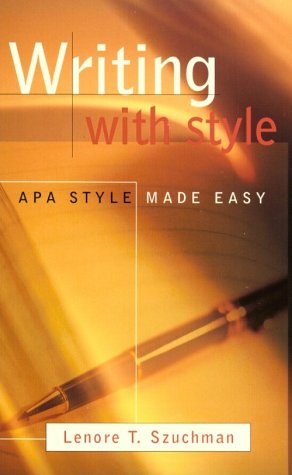 apa style made easy Overall, writing with style is an easy read szuchman uses a conversational style and provides numerous helpful examples and she highlights key points in reminder boxes szuchman uses a conversational style and provides numerous helpful examples and she highlights key points in reminder boxes.