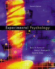 9780534364267: Experimental Psychology: Understanding Psychological Research (with InfoTrac)