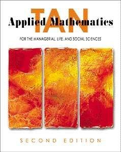 9780534365936: Applied Mathematics for the Managerial, Life, and Social Sciences