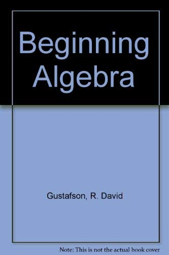 9780534366100: Beginning Algebra with Study Guide Sampler