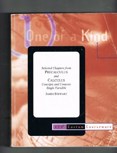 9780534368715: Selected Chapters From Precalculus and Calculus Concepts and Contexts Single Variable