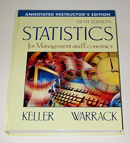 Statistics for Management and Economics : Annotated Instructor's Edition (5th Ed. with CD-ROM)...