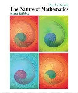 9780534368906: The Nature of Mathematics (Available Titles CengageNOW)
