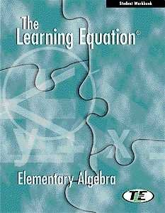 9780534369484: The Learning Equation: Elementary Algebra Student Workbook with CD (Available Titles CengageNOW)