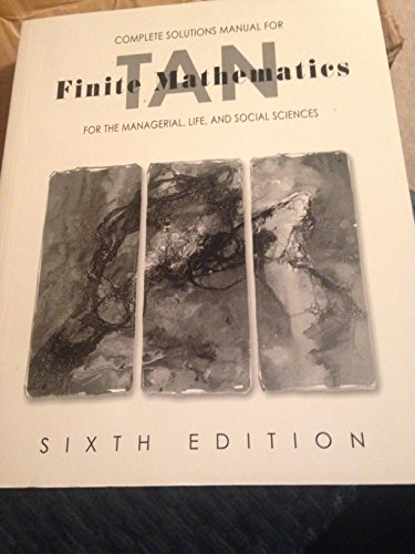 9780534370022: Complete Solutions Manual for Finite Mathematics