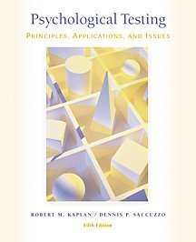 9780534370961: Psychological Testing With Infotrac: Principles, Applications, and Issues
