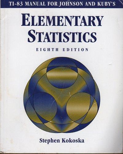 Elementary Statistics: KUBY, JOHNSON
