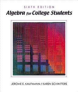 9780534371630: Algebra for College Students (Available Titles CengageNOW)