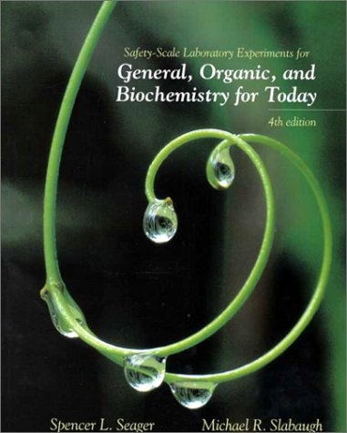 9780534372354: Safety Scale Laboratory Experiments for Seager and Slabaugh's Chemistry for Today: General, Organic, and Biochemistry