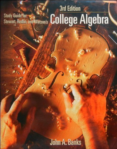 9780534373603: Study Guide for Stewart, Redlin and Watson's College Algebra