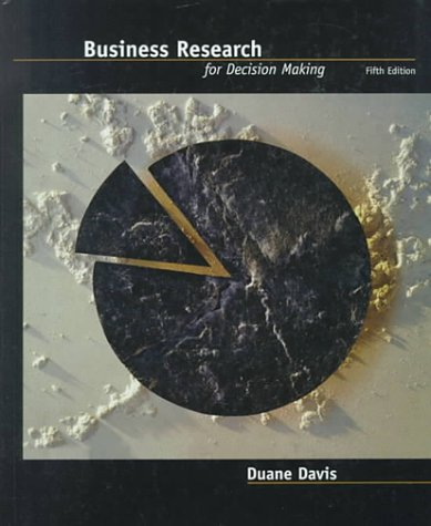 9780534373979: Business Research for Decision Making (Non-InfoTrac Version)