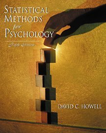 9780534377700: Statistical Methods for Psychology With Infotrac