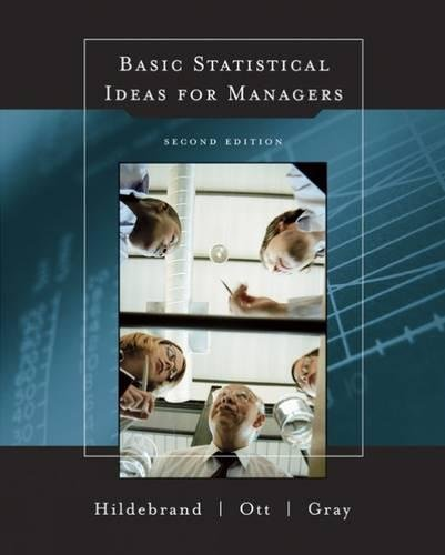 9780534378059: Basic Statistical Ideas for Managers, 2nd Edition (with CD-ROM)