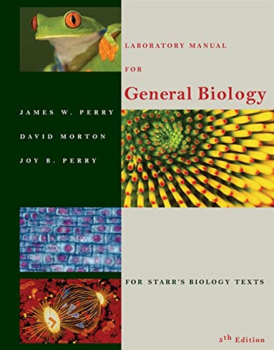 9780534380250: Laboratory Manual for General Biology