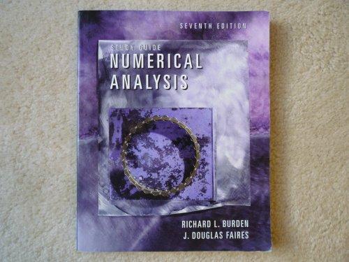 9780534382179: Numerical Analysis: Student Guide (Mathematics Series)
