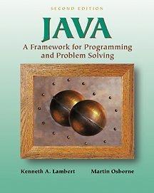 9780534382773: Java: A Framework for Programming and Problem Solving
